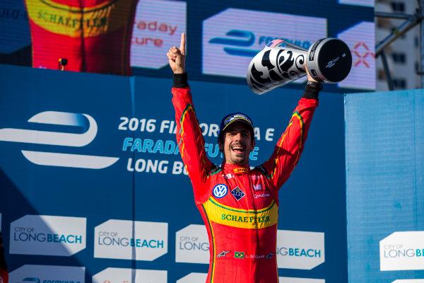 2015/2016 FIA Formula E Championship. Long Beach ePrix, Long Beach, California, United States of America. Sunday 3 April 2016. Lucas Di Grassi (BRA), ABT Audi Sport FE01. Photo: Zak Mauger/LAT/Formula E ref: Digital Image _79P6871