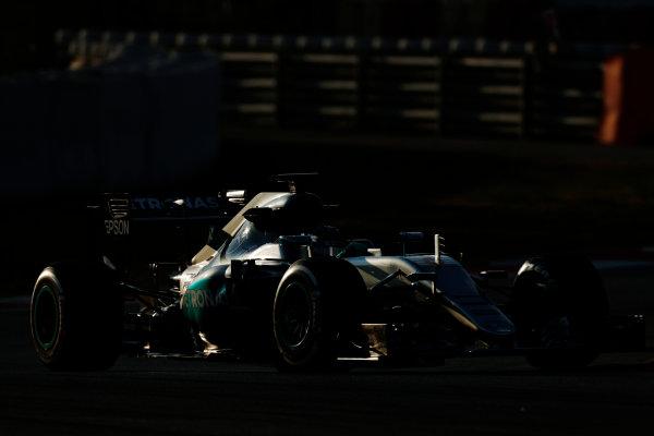 Circuit de Catalunya, Barcelona, Spain Thursday 25 February 2016. Nico Rosberg, Mercedes F1 W07 Hybrid. World Copyright: Alastair Staley/LAT Photographic ref: Digital Image _79P4808