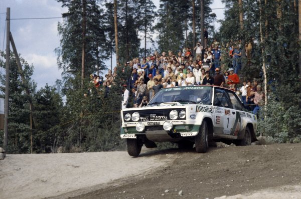 1979 World Rally Championship.1000 Lakes Rally, Finland. 24-28 August 1979.Markku Alen/Ilkka Kivimaki (Fiat 131 Abarth), 1st position.World Copyright: LAT PhotographicRef: 35mm transparency 79RALLY06