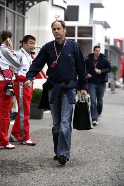 2006 Spanish Grand Prix - Friday Practice Circuit de Catalunya, Barcelona, Spain. 11th - 14th May 2006 Gerhard Berger, portrait. World Copyright: Charles Coates/LAT Photographic ref: Digital Image ZK5Y4984