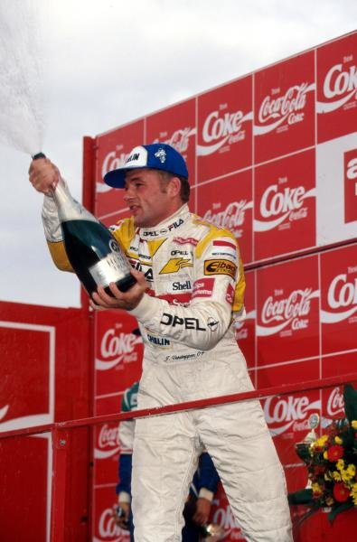 Race winner Jos Verstappen (NED) Dallara Opel was a convincing series champion.