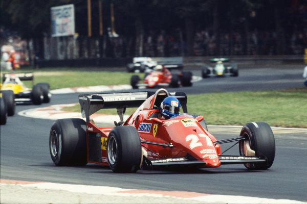 1983 Italian Grand Prix  Monza, Italy. 9-11 September 1983.  Patrick Tambay, Ferrari 126C3, 4th position.  Ref: 83ITA03. World Copyright: LAT Photographic