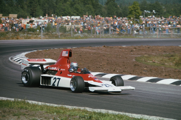 Anderstorp, Sweden. 6-8 June 1975. Mario Andretti, Parnelli VPJ4 Ford. Ref: 75SWE07. World Copyright - LAT Photographic