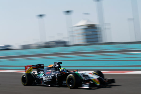 Yas Marina Circuit, Abu Dhabi, United Arab Emirates. Wednesday 26 November 2014. Spike Goddard, Force India VJM07 Mercedes.  World Copyright: Sam Bloxham/LAT Photographic. ref: Digital Image _G7C9265