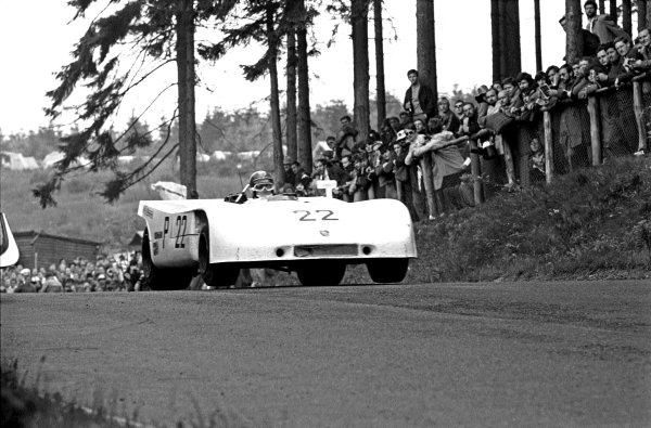 1970 Nurburgring 1000 Kms. Nurburgring, Germany. 31st May 1970. Vic Elford/Kurt Ahrens (Porsche 908/03), 1st position, action. Ref - L70 - 50 - 7. World Copyright - LAT Photographic