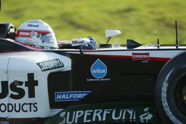 Narain Karthikeyan (IND) tests for the Minardi TeamFormula One Testing , 12 December 2003 , Vallelunga , Italy .DIGITAL IMAGE