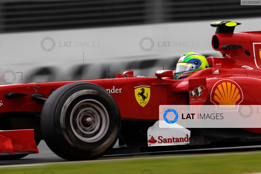 Albert Park, Melbourne, Australia 25th March 2011. Felipe Massa, Ferrari 150° Italia. Action.  World Copyright: Andrew Ferraro/LAT Photographic ref: Digital Image _Q0C8748