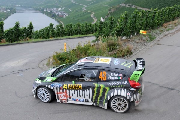 Ken Block (USA), Ford Fiesta RS WRC, on stage 3.World Rally Championship, Rd9, ADAC Rally Deutschland, Trier, Germany. Day One, Friday 19 August 2011.