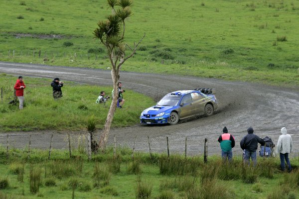 2006 FIA World Rally Champs. Round fifteenNew Zealand Rally.16th-19th November 2006.Petter Solberg, Subaru, action.World Copyright: McKlein/LAT