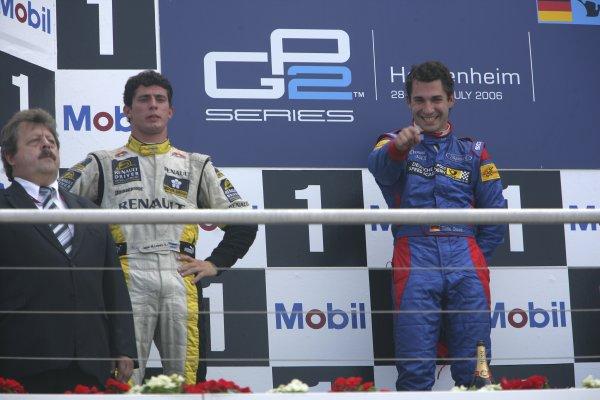 2006 GP2 Series Round 8. Hockenheim, Germany. 30th July 2006. Sunday race. Timo Glock (GER, iSport International) 1st, Jose Maria Lopez (ARG, Super Nova International) 2nd.World Copyright: Andrew Ferraro/GP2 Series Media Service. Ref: Digital Image Only.ZP9O8852 jpg
