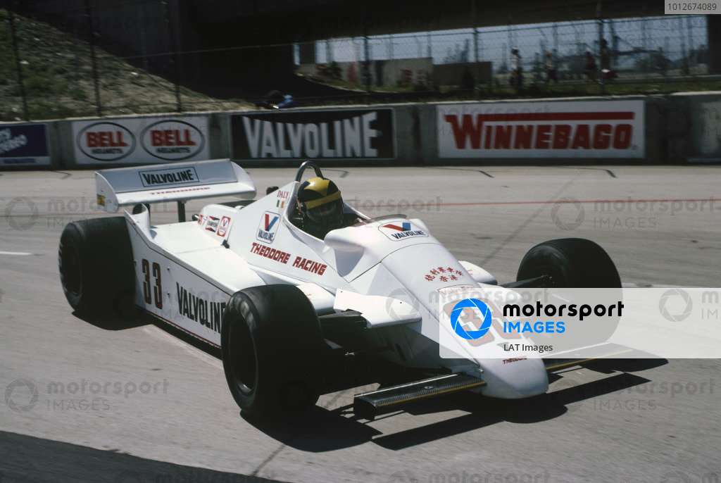 Long Beach, California, USA. 2-4 April 1982.Derek Daly (Theodore TY02-Ford Cosworth), retired.  Ref: 82LB47. World Copyright: LAT PhotographicRef: Colour Transparency.