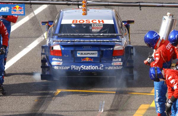 2004 DTM ChampionshipEstoril, Portugal. 1st - 2nd May 2004.Mattias Ekstrom (Abt Sportsline Audi A4), blasts away after a pit stop.World Copyright: Andre Irlmeir/LAT Photographicref: Digital Image Only