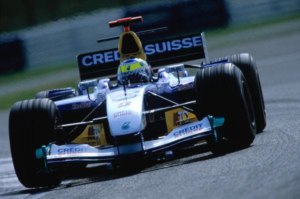 2004 British Grand PrixSilverstone England. 9th - 11th July.Giancarlo Fisichella, Sauber Petronas C23. Action. World Copyright:Steven Tee/LAT Photographi--c Ref:35mm image A13