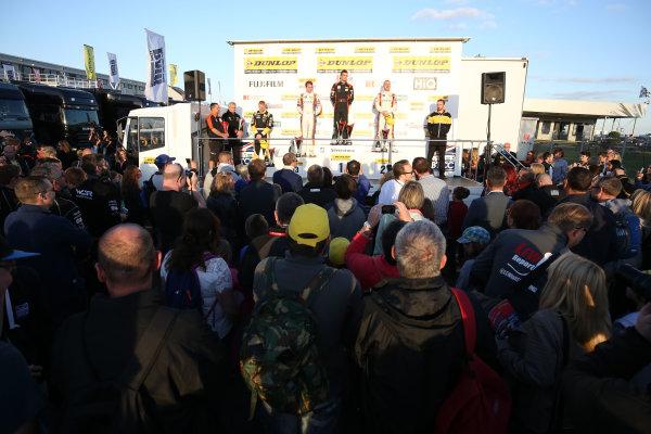 2015 British Touring Car Championship, Silverstone, Northants. 26th-27th September 2015, Podium World copyright. Jakob Ebrey/LAT Photographic
