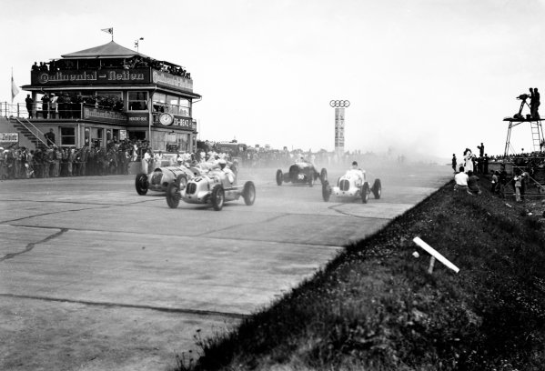 Nurburgring, Germany. 24th July 1938.  Paul Pietsch (Maserati 6CM), 6th position, at the start.  Ref: RF38_GER_62. World Copyright: Robert Fellowes/LAT Photographic