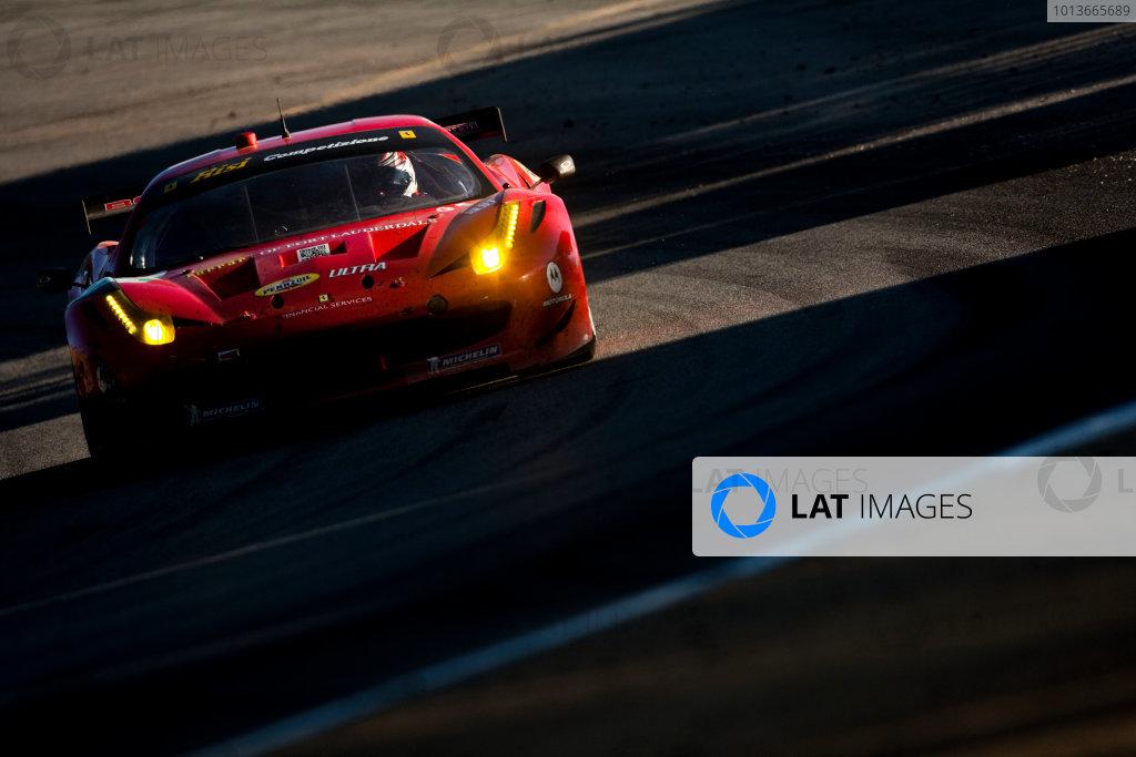American Le Mans Series. Laguna Seca, Monterey, California. 15th - 17th September 2011. Jaime Melo / Toni Vilander, Risi Competizione, Ferrari F458 Italia.  Action. Photo: Drew Gibson/LAT Photographic. ref: Digital Image _Y2Z6781