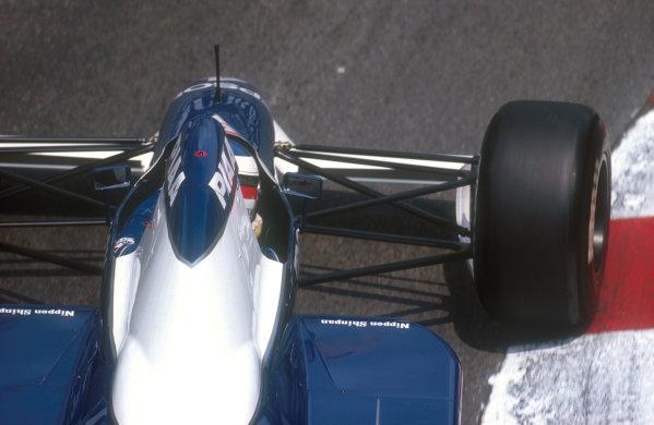 1990 Monaco Grand Prix.Monte Carlo, Monaco.25-27 May 1990.Jean Alesi (Tyrrell 019 Ford) 2nd position.Ref-90 MON 12.World Copyright - LAT Photographic