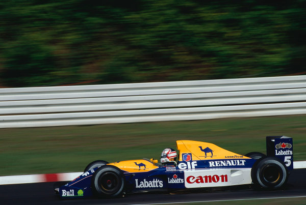 1991 German Grand Prix.Hockenheim, Germany.26-28 July 1991.Nigel Mansell (Williams FW14 Renault) 1st position.Ref-91 GER 13.World Copyright - LAT Photographic