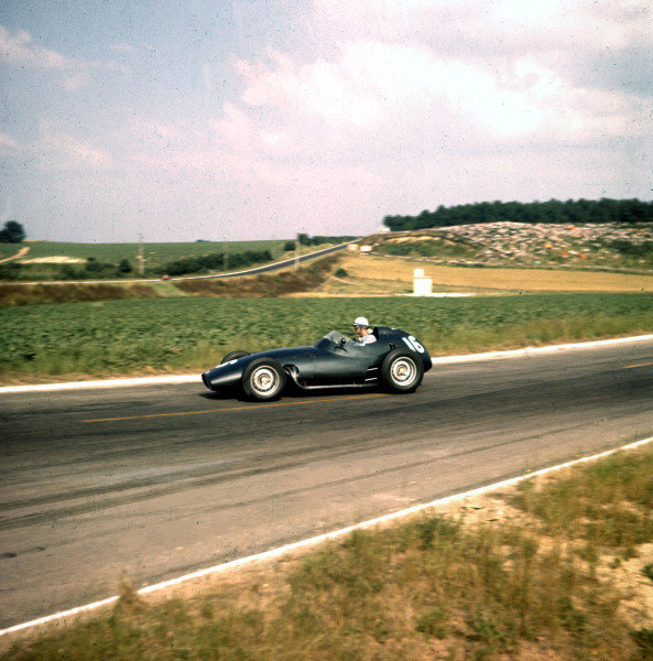 1958 French Grand Prix.Reims, France.4-6 July 1958.Harry Schell (BRM P25).Ref-3/0068.World Copyright - LAT Photographic