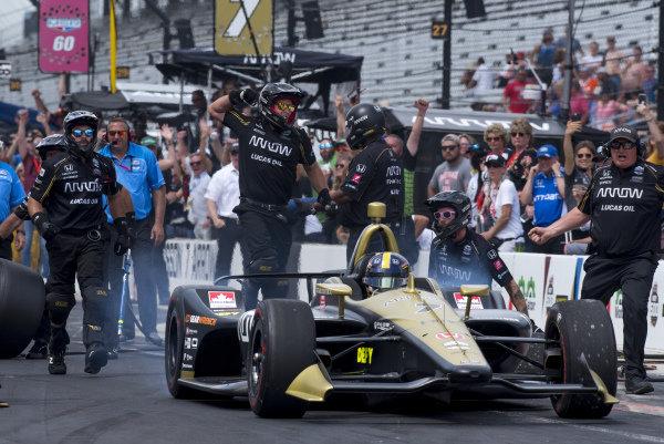 Marcus Ericsson, Arrow Schmidt Peterson Motorsports Honda, wins final round of pit stop competition