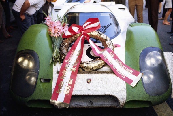 Laurel on the winning Karl Freiherr v. Wendt, Porsche 917 009 driven by Jo Siffert and Kurt Ahrens Jr.