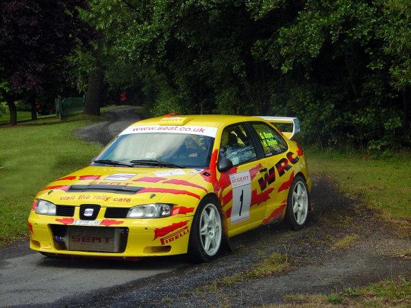 Gwyndaf Evans in action, Seat Cordoba WRCLurgan Park Rally 2000World - McKlein/LAT Photographic