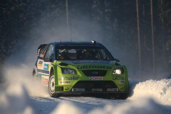 Marcus Gronholm (FIN) Ford Focus on stage 16. FIA World Rally Championship, Rd 2, Swedish Rally, Karlstad, Sweden, Leg 3, Sunday 11 February 11 2007. DIGITAL IMAGE