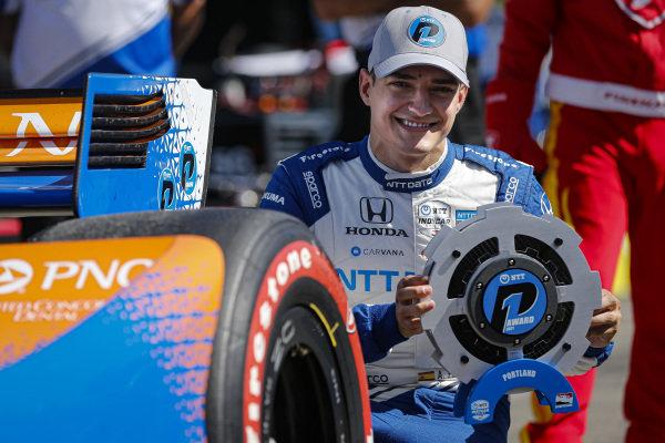 #10: Alex Palou, Chip Ganassi Racing Honda wins the NTT P1 Award, pole
