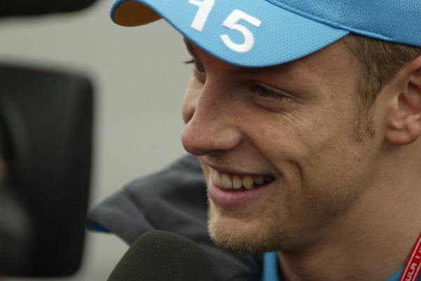 2002 Austrian Grand Prix - PreviewA1 Ring, Austria. 9th April 2002.Jenson Button, Renault R202, portrait.World Copyright: Steve Etherington/LAT Photographicref: Digital Image Only