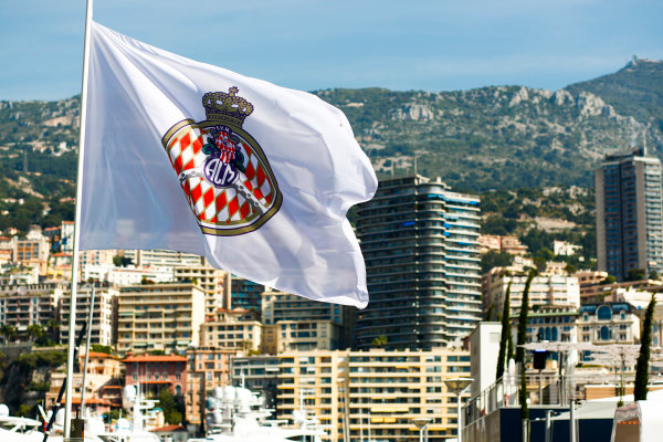 Monte Carlo, Monaco. Wednesday 24 May 2017. ACM flag above the harbour. World Copyright: Sam Bloxham/LAT Images ref: Digital Image _W6I9810