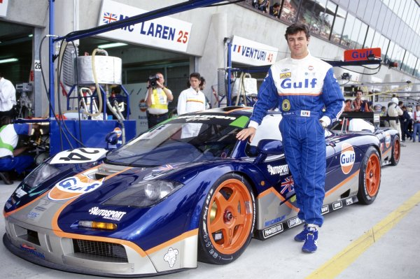 1995 Le Mans 24 Hours. Le Mans, France. 17th - 18th June 1995. Mark Blundell  (McLaren F1 GTR) portrait. World Copyright: LAT Photographic ref: 95LM05.