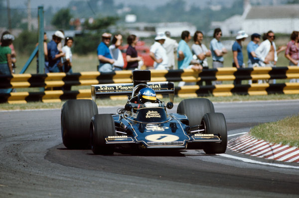 Buenos Aires, Argentina. 13th January 1974. Ronnie Peterson (Lotus 72D-Ford), 13th position, action. World Copyright: LAT Photographic.. Ref: 74ARG