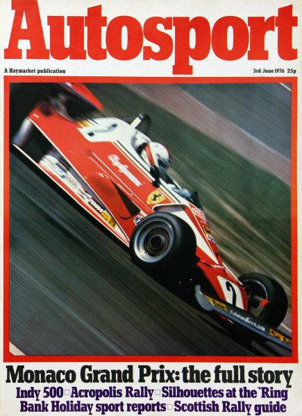 Cover of Autosport magazine, 3rd June 1976