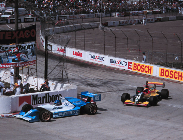 Long Beach, California, USA. 9th April 1995. Greg Moore, Players Forsythe Racing. World - Michael L. Levitt/LAT Photographic