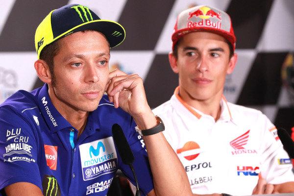 Valentino Rossi, Yamaha Factory Racing, Marc Marquez, Repsol Honda Team.