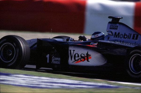 1999 Canadian Grand Prix.Montreal, Quebec, Canada.11-13 June 1999.Mika Hakkinen (McLaren MP4/14 Mercedes-Benz) 1st position.Ref-99 CAN 06.World Copyright - LAT Photographic