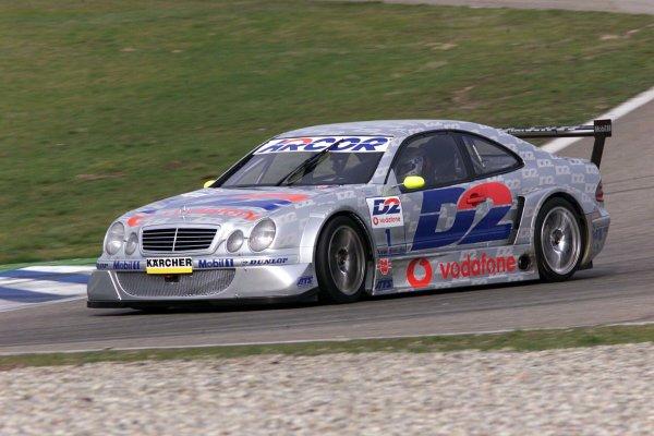 2001 DTM TestingHockenheim, Germany. 20th March 2001.Bernd Schneider - Mercedes CLK.World Copyright: LAT Photographicref: 5 mb Digital Image