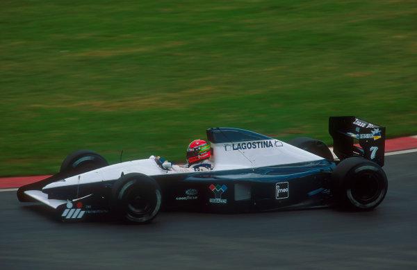 1992 South African Grand Prix.Kyalami, South Africa.28/2-1/3 1992.Eric van de Poele (Brabham BT60B Judd) 13th position.Ref-92 SA 03.World Copyright - LAT Photographic