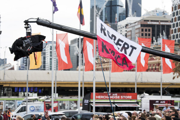 Robert Kubica fans at the Federation Square event