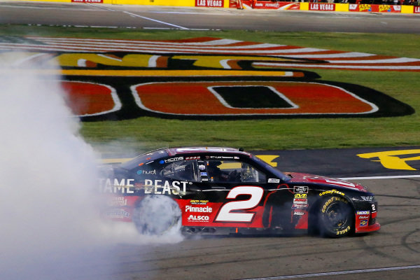 #2: Tyler Reddick, Richard Childress Racing, Chevrolet Camaro TAME the BEAST celebrates his win with a burnout