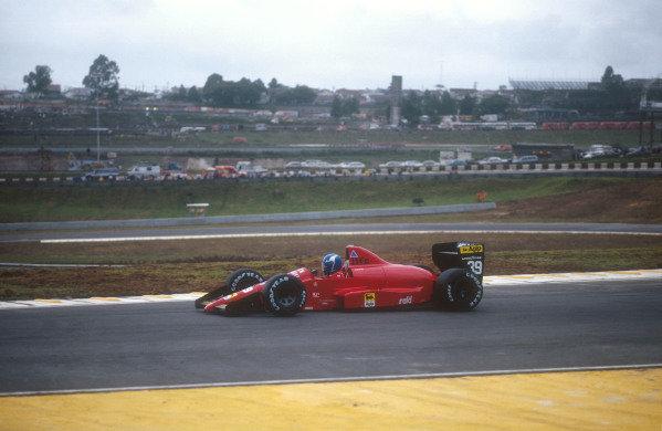 1990 Brazilian Grand Prix.Interlagos, Sao Paulo, Brazil.23-25 March 1990.Gary Brabham (Life 190). He failed to pre-qualify.Ref-90 BRA 02.World Copyright - LAT Photographic
