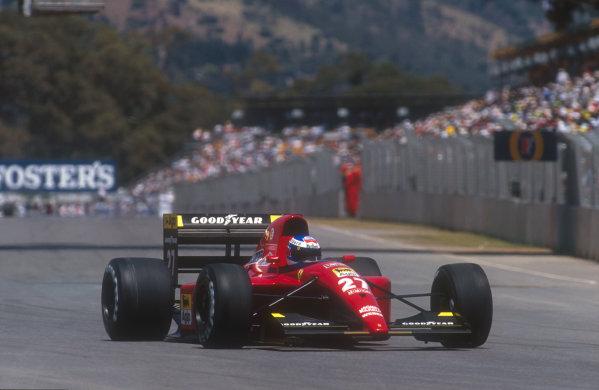 1991 Australian Grand Prix.Adelaide, Australia.1-3 November 1991.Gianni Morbidelli (Ferrari 643) 6th position in his only drive for Scuderia Ferrari.Ref-91 AUS 31.World Copyright - LAT Photographic