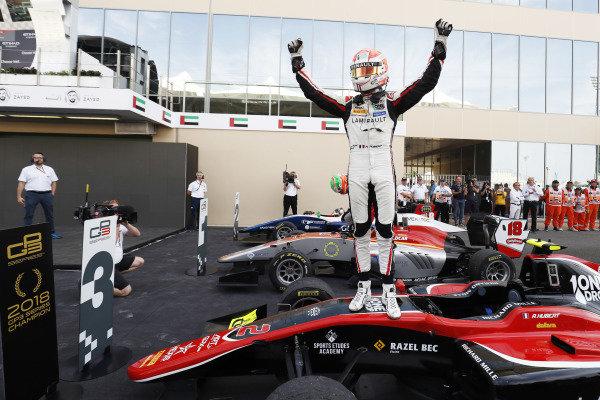 Anthoine Hubert (FRA, ART Grand Prix), celebrates after winning the championship