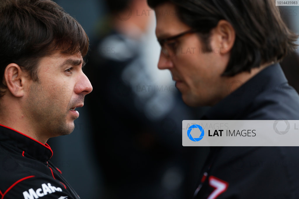 FIA Formula E Test Day, Donington Park, UK. Monday 24 August 2015. Oriol Servia (Director - Dragon Racing) Photo: Sam Bloxham/FIA Formula E/LAT ref: Digital Image _SBL0734