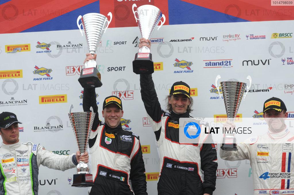 2017 British GT Championship Rockingham, England. 29th-30th April 2017, Duncan Cameron / Matt Griffin Spirit of Race Ferrari 488  World copyright. JEP/LAT Images
