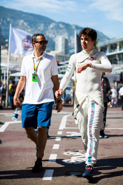 Monte Carlo, Monaco. Wednesday 24 May 2017. Lance Stroll, Williams Martini Racing. World Copyright: Sam Bloxham/LAT Images ref: Digital Image _W6I0529