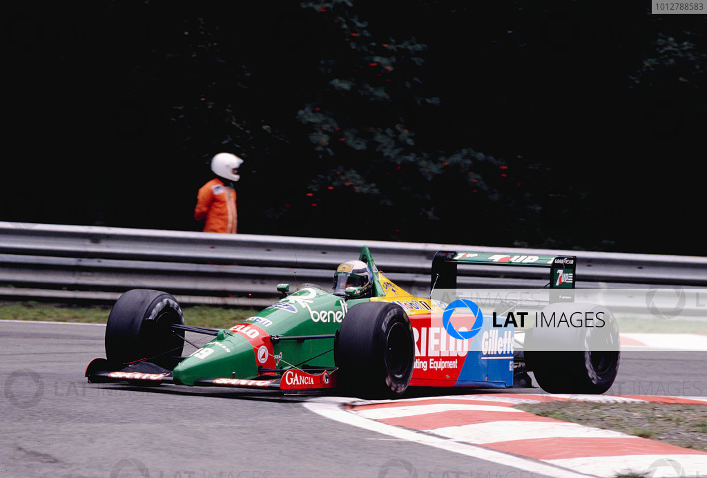 1989 Belgian Grand Prix.Spa-Francorchamps, Belgian.25-27 August 1989.Alessandro Nannini (Benetton B189 Ford) 5th position.Ref-89 BEL 10.World Copyright - LAT Photographic