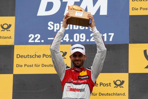 2017 DTM Round 8  Red Bull Ring, Spielberg, Austria  Sunday 24 September 2017. Podium: Race winner René Rast, Audi Sport Team Rosberg, Audi RS 5 DTM  World Copyright: Alexander Trienitz/LAT Images ref: Digital Image 2017-DTM-RBR-AT3-2744
