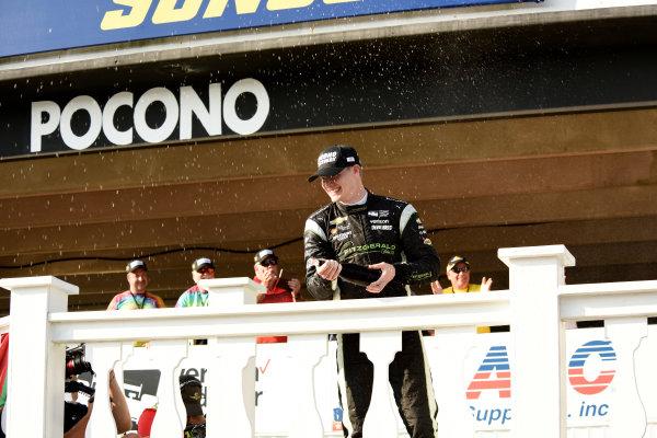 Verizon IndyCar Series ABC Supply 500 Pocono Raceway, Long Pond, PA USA Monday 21 August 2017 Josef Newgarden, Team Penske Chevrolet sprays champagne World Copyright: Gregg Feistman LAT Images