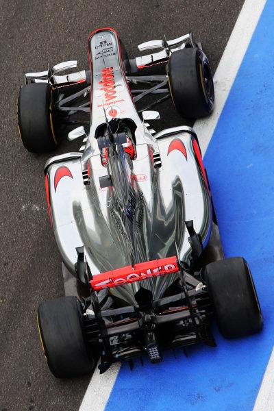 Kevin Magnussen (DEN) McLaren MP4-27. Formula One Young Drivers Test, Day Three, Yas Marina Circuit, Abu Dhabi, UAE, Thursday 8 November 2012.